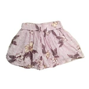 🛍Wild Pearl Pale Pink Floral Print Ruffled Shorts